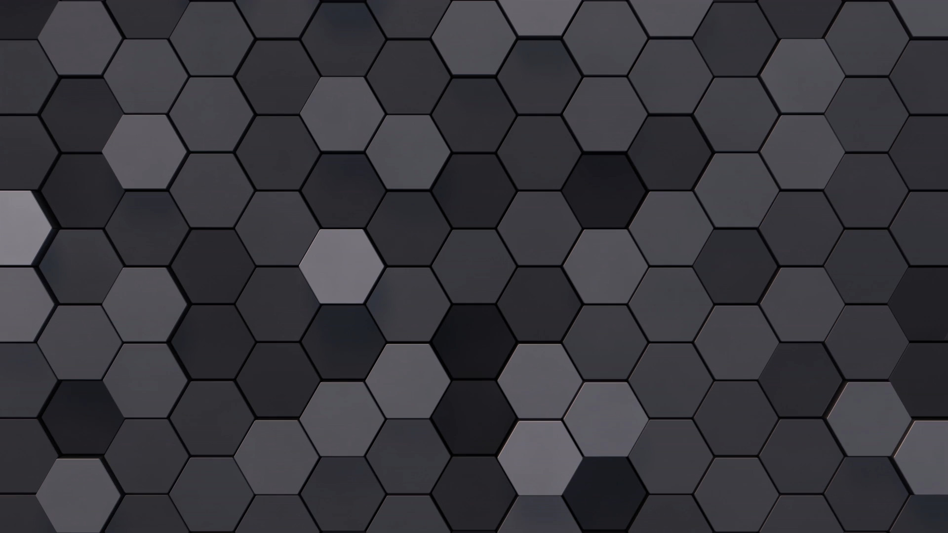 flat hexagons
